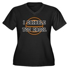 I Dribble You Drool Women's Plus Size V-Neck Dark
