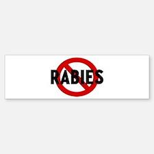 Anti rabies Bumper Bumper Bumper Sticker