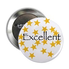 "Gold Star 2.25"" Button (10 pack)"