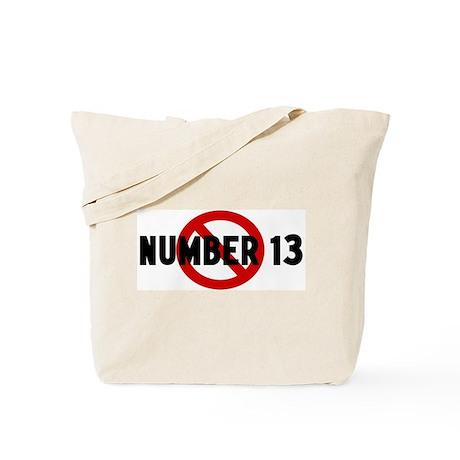 Anti number 13 Tote Bag