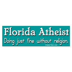 Florida Atheist Bumper Sticker
