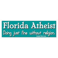 Florida Atheist Bumper Bumper Sticker