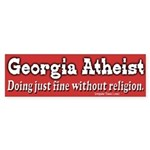 Georgia Atheist Bumper Sticker