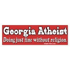 Georgia Atheist Bumper Bumper Sticker
