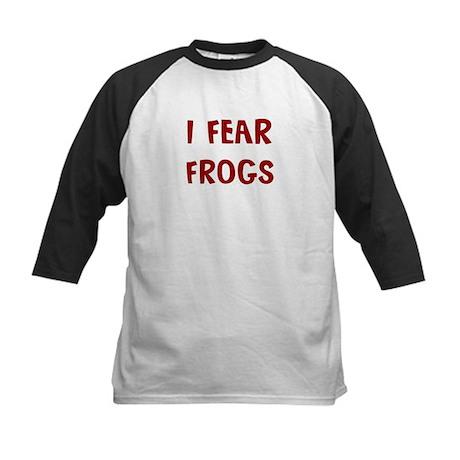 I Fear FROGS Kids Baseball Jersey