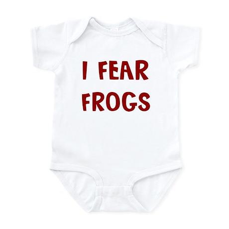 I Fear FROGS Infant Bodysuit
