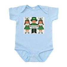'Happy St. Patrick's Day' (Gaelic) Infant Creeper