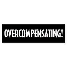Overcompensating Bumper Car Sticker