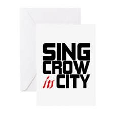 Sing Crow In City Greeting Cards (Pk of 10)