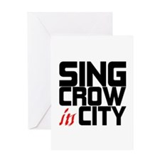Sing Crow In City Greeting Card