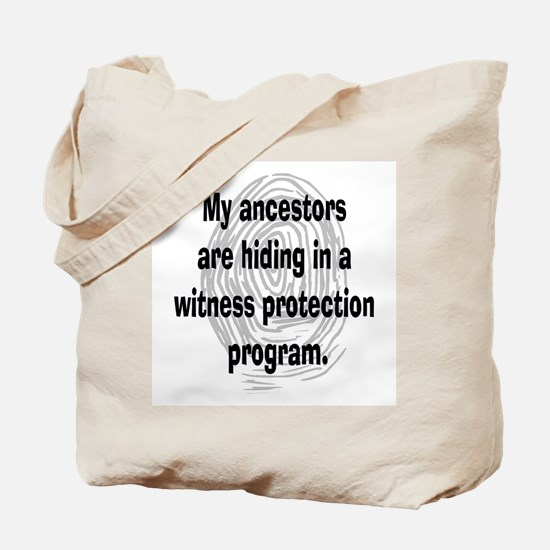 Genealogy's Witness Protection (black) Tote Bag