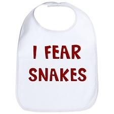I Fear SNAKES Bib