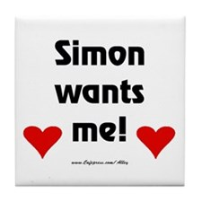 Idol Simon Wants Me Tile Coaster