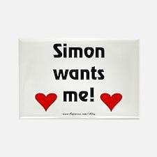 Idol Simon Wants Me Rectangle Magnet