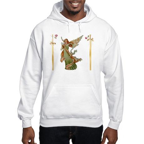 Irish Angel w/Roses Hooded Sweatshirt