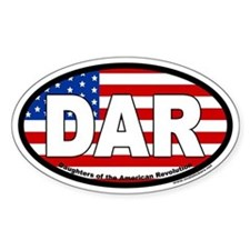 Daughters of the American Revolution Oval Bumper Stickers