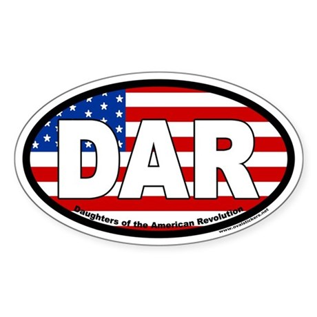 Daughters of the American Revolution Oval Sticker