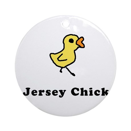 Jersey Shore Girl T-shirts Ornament (Round)