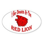 Red Lion Oval Sticker