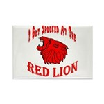 Red Lion Rectangle Magnet