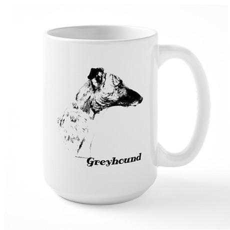 Greyhound Charcoal Large Mug