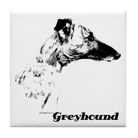 Greyhound Charcoal Tile Coaster