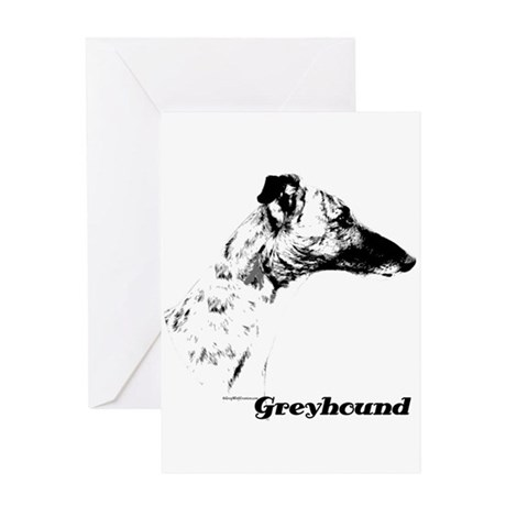 Greyhound Charcoal Greeting Card