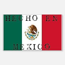 Hecho En Mexico Rectangle Decal