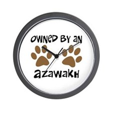 Owned By An Azawakh Wall Clock