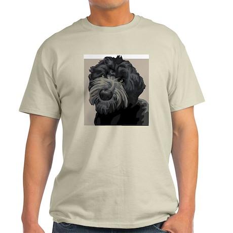 Black Russian Terrier (Front only) Light T-Shirt