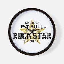 Pit Bull Rock Star Wall Clock