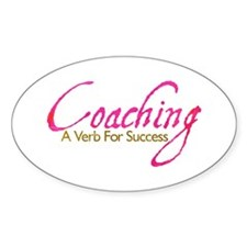 Success in Pink and Mocha Oval Decal