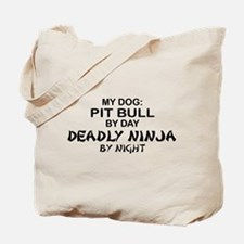 Pit Bull Deadly Ninja by Night Tote Bag