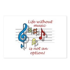 Life Without Music Postcards (Package of 8)