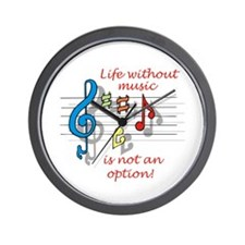 Life Without Music Wall Clock