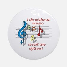 Life Without Music Ornament (Round)