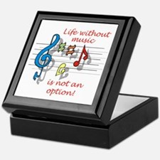 Life Without Music Keepsake Box
