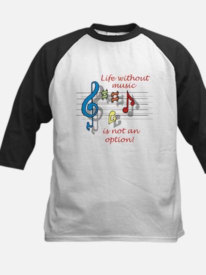 Life Without Music Kids Baseball Jersey