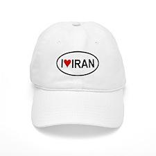I Love Iran Oval Baseball Cap