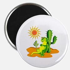 """Cactus in the Desert Iguana 2.25"""" Magnet (10 pack)"""