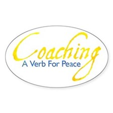 Coaching: Gold and Blue Oval Decal