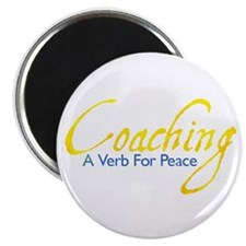 Coaching: Gold and Blue Magnet
