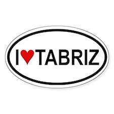I Love Tabriz Oval Decal