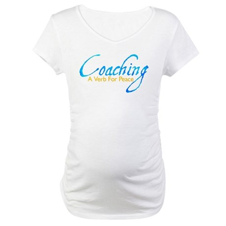 Coaching: Blue and Gold Maternity T-Shirt