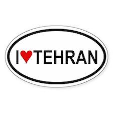 I Love Tehran Oval Decal