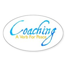 Coaching: Blue and Gold Oval Decal