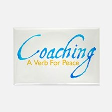 Coaching: Blue and Gold Rectangle Magnet