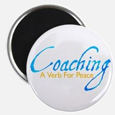 """Coaching: Blue and Gold 2.25"""" Magnet (100 pack)"""