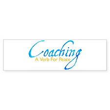Coaching: Blue and Gold Bumper Bumper Sticker