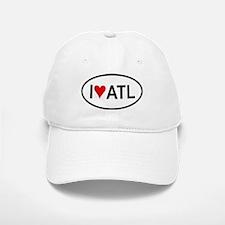 I Love ATL (Atlanta) Oval Baseball Baseball Cap